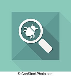 Find virus - Minimal vector icon