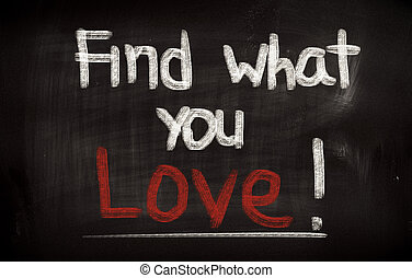 Find What You Love Concept