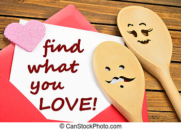 Find what you love words
