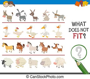 find wrong animal in the row