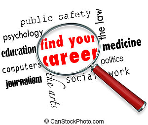 Find Your Career - Magnifying Glass - A magnifying glass...