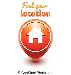find your location web vector symbol