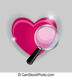 Find your love symbol vector illustration