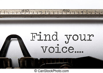Find your voice inspiration - Find your voice printed on an...