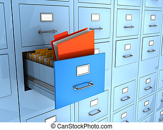finded information - 3d illustration of folder finded in big...