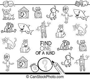 finden, eins, bild, von, a, art, färbung, spiel