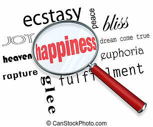 Finding Happiness - Magnifying Glass - A magnifying glass...
