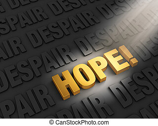 Finding Hope In Despair - A spotlight illuminates a bright,...
