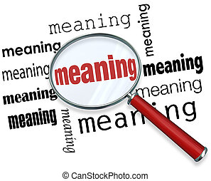 Finding Meaning Searching Looking Magnifying Glass Purpose...