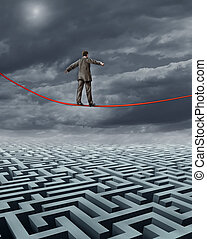 Finding New Solutions business challenges and a symbol for...