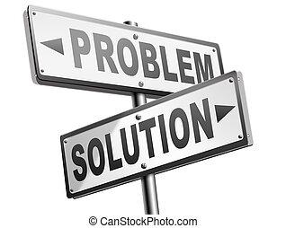 Sign: Problem Solving (color) | abcteach |Problem Solved Sign