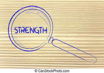 finding strength, magnifying glass design