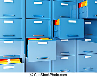 file cabinet - fine 3d image of file cabinet folder