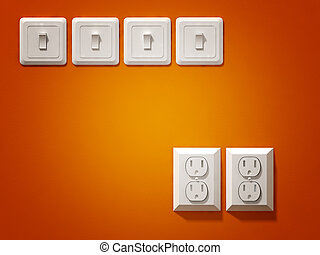 electric plug - fine 3d image of white electric plug on ...