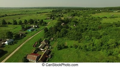 Fine aerial view of Russian country landscape