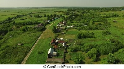Fine aerial view of Russian country landscape - Fine aerial...