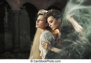 Fine art photo of a two beautiful ladies