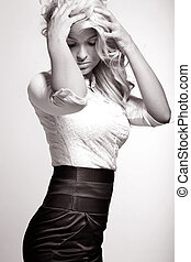 Fine art photo of beautiful young woman