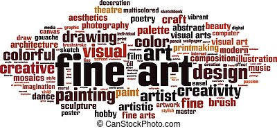 Fine art word cloud
