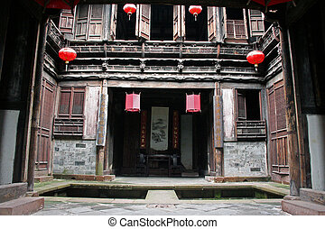 Fine carpentry of a traditional chinese house in Anhui province