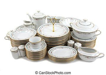 Fine China - Expensive porcelain plate set