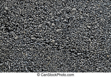 Fine crushed grey gravel texture