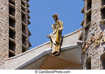 Detail of Gaudi's Sagrada Familia in Barcelona, Spain - Fine...