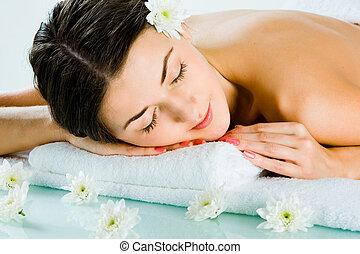 Fine dreams - Photo of beautiful girl sleeping and having a ...