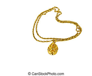 Fine Gold chain on white background