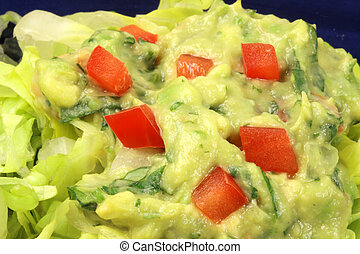 fine gourmet guacamole - delicious chicken mexican tacos...