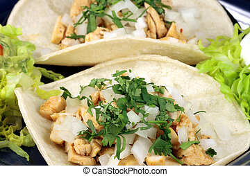 fine gourmet tacos - delicious chicken mexican tacos perfect...