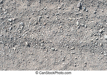 Fine Gravel Texture - Horizontal shot of fine gray gravel...