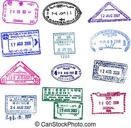 passport stamp - fine image of different passport stamp