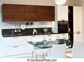 kitchen - fine image of modern kitchen background
