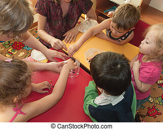Fine motor skills - A group of children develop fine motor ...