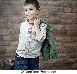 Fine picture of businessman child