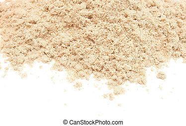 fine sand isolated on white background