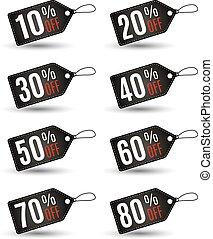 fine, set., etichette, vendita, risparmi, anno