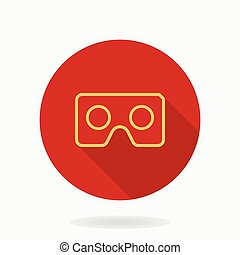Fine Vector Flat Icon With VR Logo - Fine vector icon with...