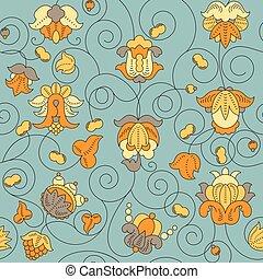 Fine Vintage Floral seamless pattern