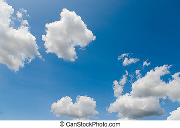 fine weather - blue sky with white clouds