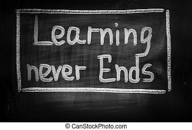 fines, concepto, aprendizaje, nunca