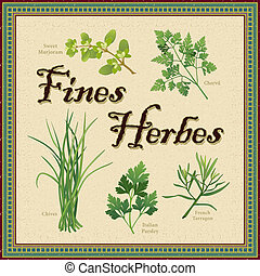 Fines Herbes, French Herb Blend - Fines Herbes, classic...