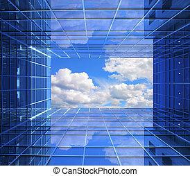 finestra, a, futuro