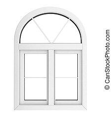 finestra, isolato, plastica