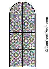 finestra, macchi-vetro