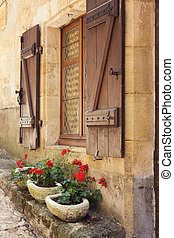 finestra, mediterraneo, scatole
