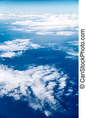 finestra, nubi, aeroplano, vista