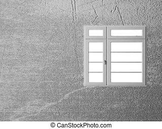 finestra, parete bianca