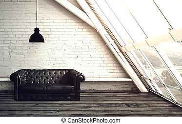 finestra, soffitta